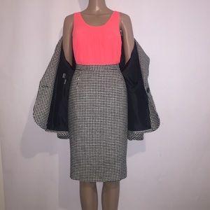👗 Vintage Christian Dior houndstooth skirt suit